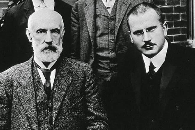 Карл Густав Юнг и Зигмунд Фрейд